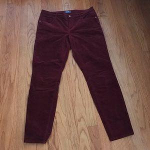NWOT Old Navy Velvet Pants- Burgundy Sz 12